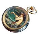 Vintage Mermaid Art Pocket Watch, 17 Jewels, Solid Brass, John William Waterhouse