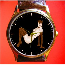 CATWOMAN - Original Erotic Comic Art Wrist Watch