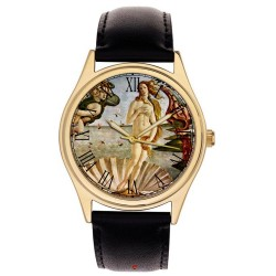The Birth of Venus by Botticelli 40 mm Art Masterpiece Collectible Brass Wrist Watch
