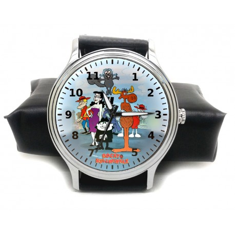 Vintage Rocky And Bullwinkle Natasha And Boris Collectible Comic Art Wrist Watch
