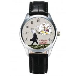 """Calvin & Hobbes vs Banksy """"Calvin Grows Up"""" Contemporary Art Collectible Wrist Watch"""