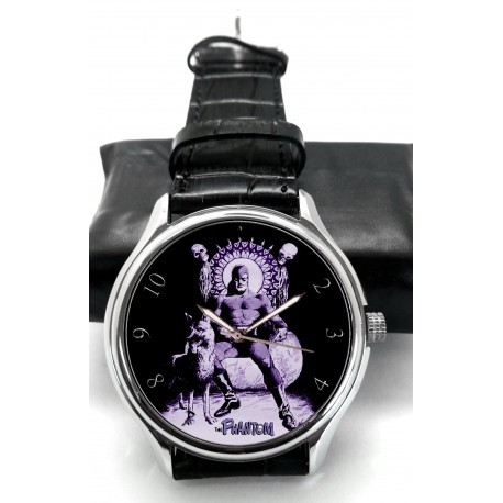 PHANTOM - THE GHOST WHO WALKS - Purple Retro Art Wrist Watch