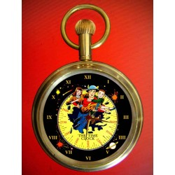 THE FLASH - Golden Age Comic Art Collectible Pocket Watch