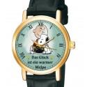 Das Glück ist ein warmer Welpe Snoopy, Peanuts Sammler 30 mm Unisex Armbanduhr