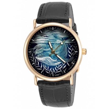 Humpback Whale Art Wrist Watch