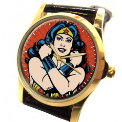 WONDER WOMAN - Golden Age Comic Art Feminist Girls Superhero Watch