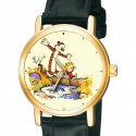 "Calvin & Hobbes ""Back to Nature!"" Wrist Watch. Solid Brass Collectible Original Comic Art."