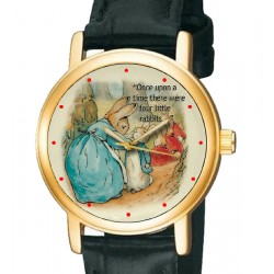 Beatrix Potter Peter Rabbit Original Art Collectible Wrist Watch. 30 mm, brass.