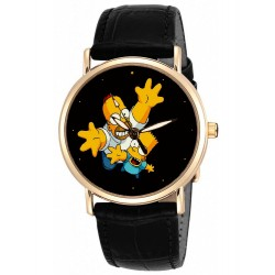 The Simpsons - Bart & Homer! Classic Vintage Solid Brass Collectible Wrist Watch