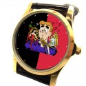Archie, Betty & Veronica Classic Collectible Comic Art Wrist Watch in Solid Brass