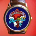 THE SMURFS - Beautiful Blue Unisex Collectible Wrist Watch
