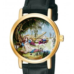 """The White Rabbit"" Alice in Wonderland Lewis Carroll Original Art Collectible Wrist Watch"