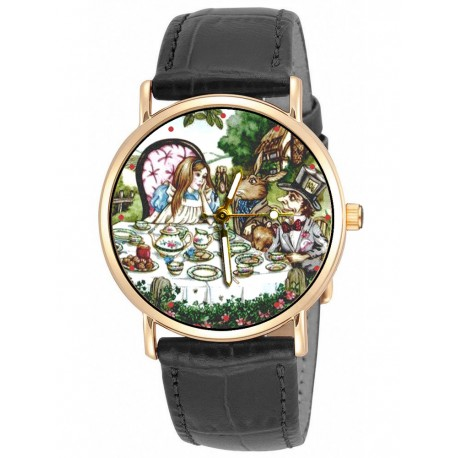 Alice in Wonderland Hollywood Cheshire Cat Art Wrist Watch