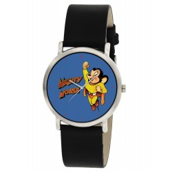 Mighty Mouse Classic Golden Age Art Solid Brass Collectible Wrist Watch