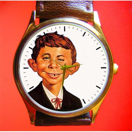 MAD MAGAZINE ALFRED E. NEUMANN Collectible Wrist Watch