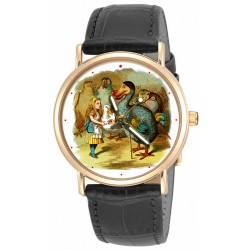 """The Dodo"" Alice in Wonderland Lewis Carroll Original Art Collectible Wrist Watch"