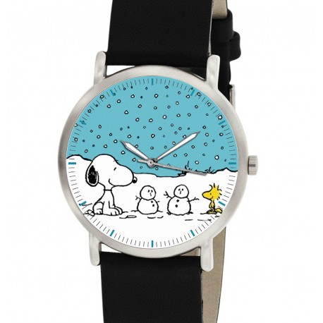Snoopy Snow Art Christmas Peanuts Collectible Unisex 30 mm Wrist Watch