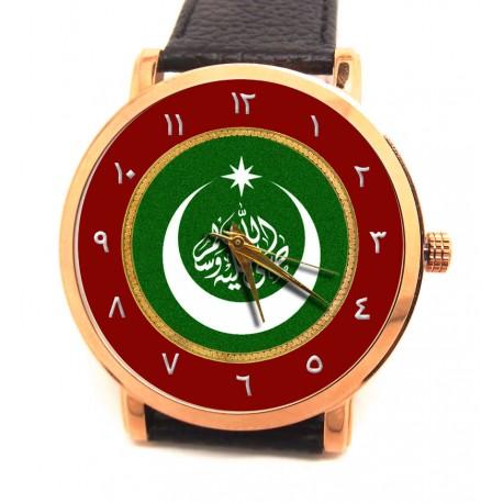 Islamic Shahada Martyrdom Art Koranic Star & Crescent Collectible Wrist Watch