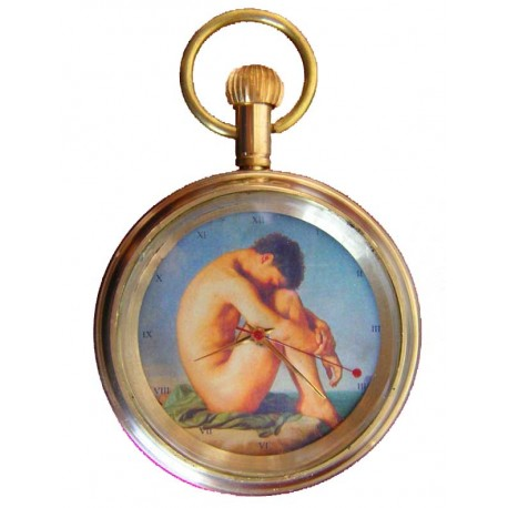Homoerotic Pocket Watch. Renaissance Gay Queer Art 17 Jewel Swiss Gift Watch