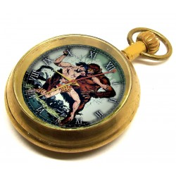 Tarzan the Apeman Vintage Edgar Rice Burroughs Art Comic Art Pocket Watch. Solid Brass.