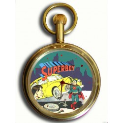 Superboy Vintage Golden Age Superman Art 17 Jewels Collectible Solid Brass Pocket Watch