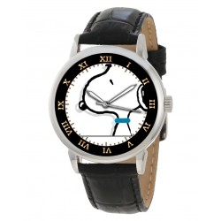Snoopy Collectible Peanuts Silhouette Art Rare Adult-Size 40 mm Wrist Watch