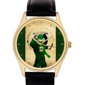The Green Lantern Vintage Large Format Solid Brass Superhero Comic Art Collectible Wrist Watch