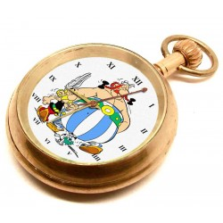 Asterix & Obelix Vintage Pocket Watch. Solid Brass. Mechanical 17 Jewels