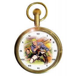 Flash Gordon & Dr Zarkov Vintage Golden Age Art Solid Brass Pocket Watch