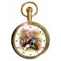 Flash Gordon & Dr Zarkov Vintage Golden Age Art Solid Brass Pocket Watch