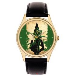 The Green Arrow Vintage Superhero Comic Art Collectible Wrist Watch