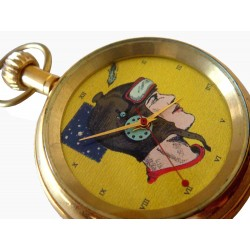 Buck Rogers 21st Century Space Cowboy Vintage Art Pocket Watch