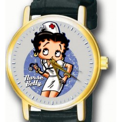 Nurse Betty Beautiful Hospital Art Collectible Betty Boop Wrist Watch