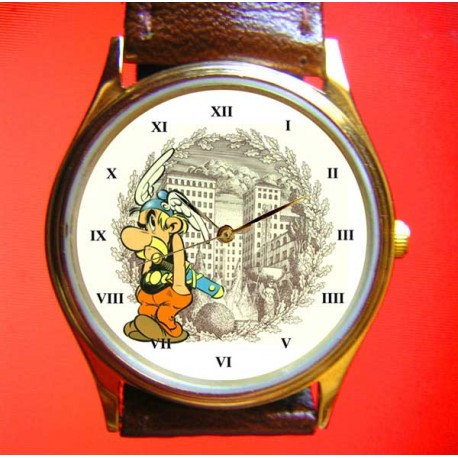 Asterix and Obelix Vintage Mansion of the Gods French Comic Art Collectible Wrist Watch