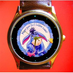 Winne the Pooh - EEYORE - Hope You Feel Better Soon - Collectible Solid Brass Unisex Wrist Watch