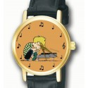 Peanuts: Schroeder on the Piano Musical Notation Art Unisex Wrist Watch