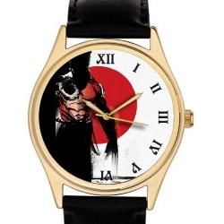 Wolverine. Fantastic Postmodern Comic Art 40 mm Heavy Brass Collectible Wrist Watch