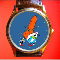 Asterix & Obelix- Naughty Menhir! Collectilbe Comic Art Spoof Wrist Watch