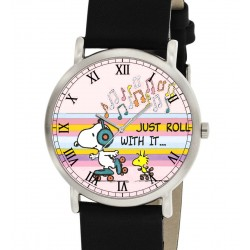 SNOOPY SKATING WATCH