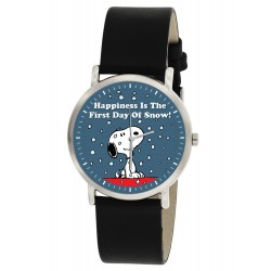 Snoopy & Woodstock, Classic Snow Art Christmas Peanuts Collectible Unisex 30 mm Wrist Watch