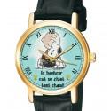 Le Bonheur est un Chiot Chaud, en francais, Snoopy et Charlie Brown, 30 mm Montre-bracelet