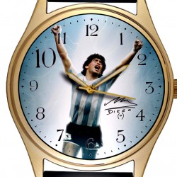 "DIego Maradona Soccer Legend ""10"" Tribute Solid Brass Collectible Wrist Watch"