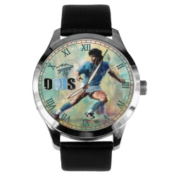 "DIego Dios Maradona Soccer Legend ""10"" Tribute Solid Brass Collectible Wrist Watch"