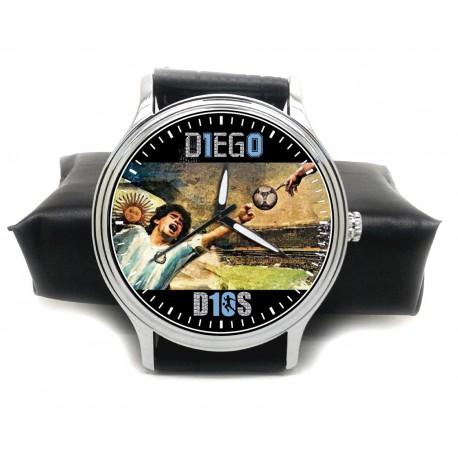 "DIego Maradona Soccer Legend ""10"" Tribute Solid Brass Collectible Wrist Watch"
