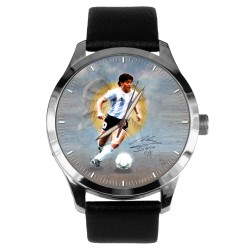 DIego Maradona Symbolic Angel Art Soccer Football Solid Brass Wrist Watch