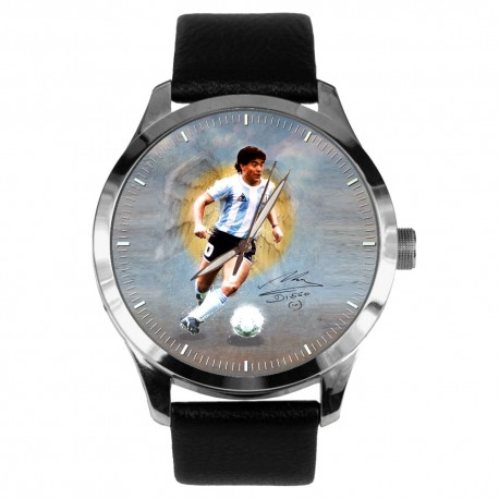 DIego Maradona Hand of God Cult Symbolic Soccer Art Solid Brass Wrist Watch