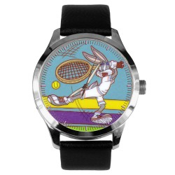 Rare Bugs Bunny 1940s Looney Tunes Lawn Tennis Comic Art Solid Brass Collectible Wrist Watch