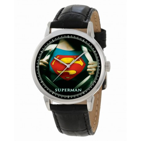Classic Superman, Man of Steel, Vintage Colors Collectible Golden Age Art Wrist Watch 40 mm