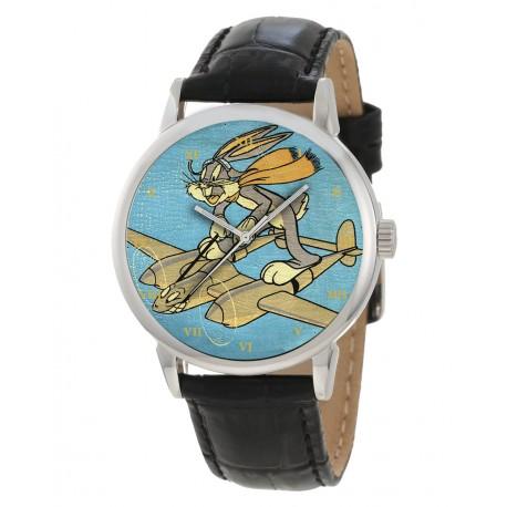 Bugs Bunny on a Lockheed Lightning WW-II Large Format Gents Wrist Watch