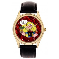 Popeye the Sailor Man, I YAM WHAT I YAM, Collectible Comic Art Wrist Watch